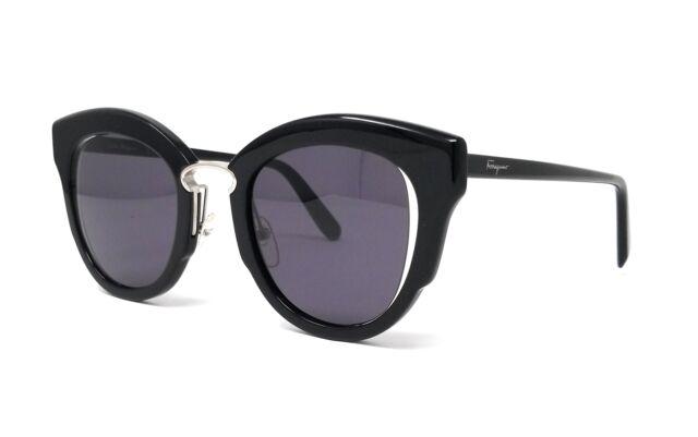 08e6a1366608 Salvatore Ferragamo Sf830s 001 Black Cat Eye Sunglasses for sale ...