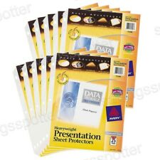 250 Ct Avery Advantages Heavyweight Clear Sheet Protectors 85 X 11 Top Loading