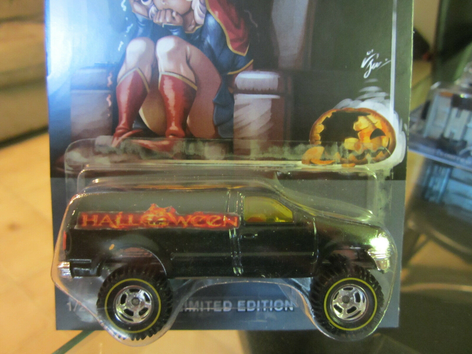 Hot Wheels Personalizado Ford F-150  Halloween  Real Real Real Riders Limited 1 25 hecho  5ba7cc