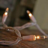 Christmas/wedding Mini Lights, 100 Clear Lights, White Wire/cord, 42 Feet Long, on Sale