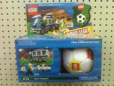 NEW - LEGO TEAM TRANSPORT - 3411 - MADE IN 2000 - BONUS LEGO SOCCER BALL