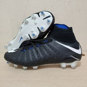 Nike-Hypervenom-Phantom-III-3-DF-FG-Soccer-Cleats-Black-Blue-Size-8-860643-002
