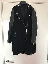 Zara Real leather Sleeve Coat Jacket Blazer Bloggers Style Fashion Trendy