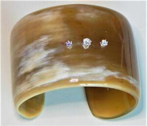 Buffalo Horn Cubic zirconia CZ  Bracelet