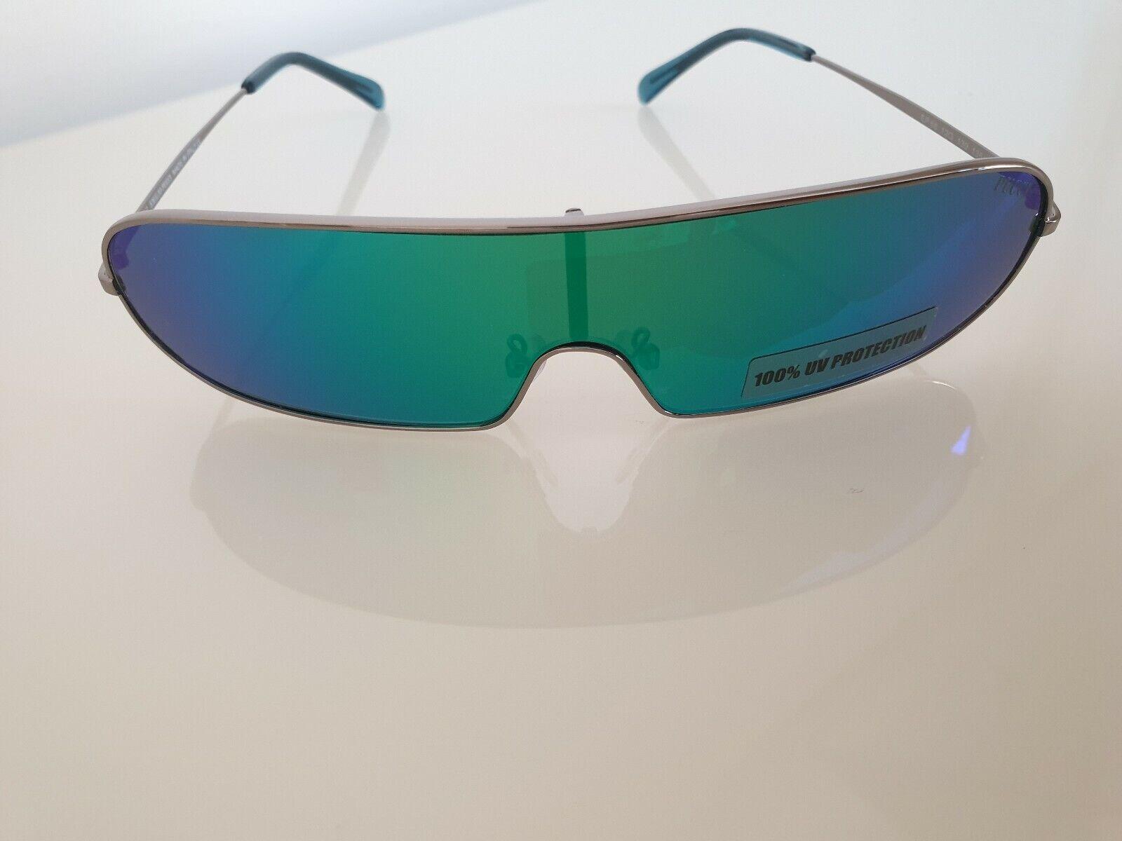 EMILIO PUCCI Women's Multicolour Gunmetal Shield Sunglasses.