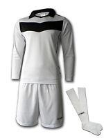 Ichnos teamwear adult size football team kit shirt shorts socks white black