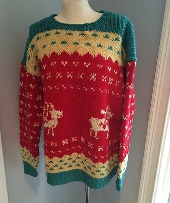Green Sweater w//Turkey Motif Sweater for Bears//Dolls-NWOT