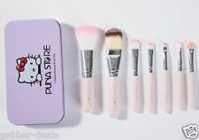 Cosmetic Makeup Brush Set - 7 Piece Set with Storage Box - Pink