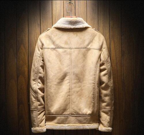 Outwear Winter Collar Wool Slim Mens Cashmere Fit Warm Fur Coat 100 Jacket zBOn5Px