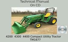John Deere 4200 4300 4400 Compact Utility Tractor Technical Manual Tm1677
