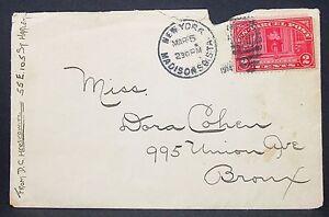 US-Parcel-post-Envelope-Ny-City-Carrier-2c-Duplex-Stamp-1914-USA-Letter-Y-556
