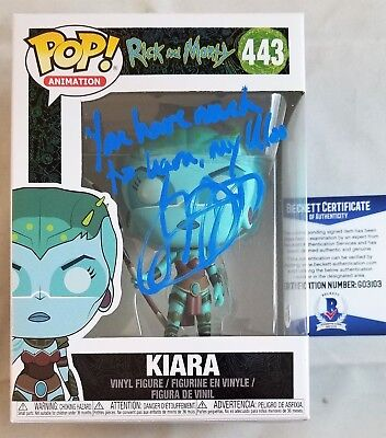 "Television Skillful Knitting And Elegant Design Jennifer Hale Signed ""kiara"" Rick & Morty Funko Pop Autograph Beckett Bas Coa 02 To Be Renowned Both At Home And Abroad For Exquisite Workmanship"