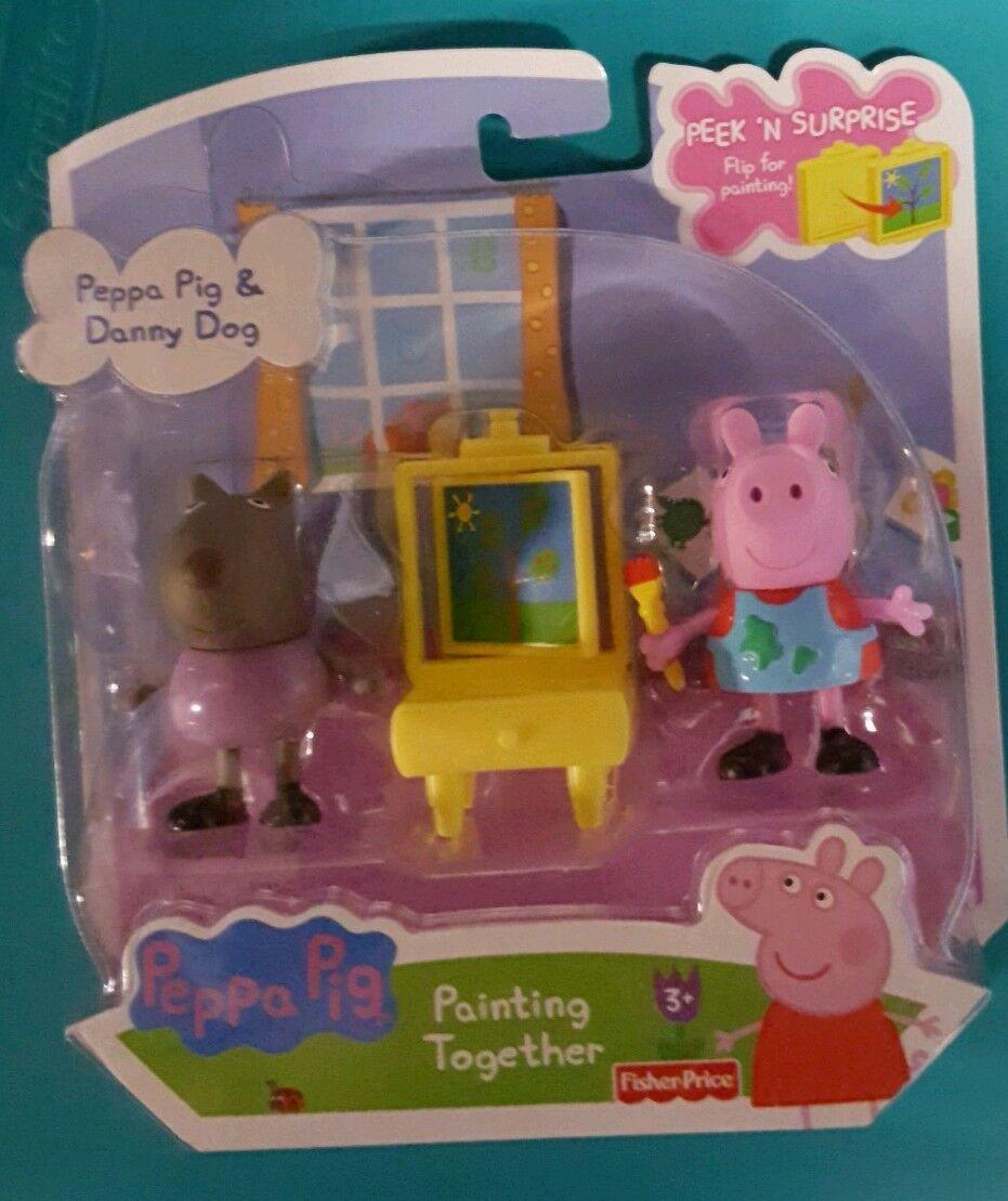 Peppa Pig Peppa & Danny Dog Painting Action Figure