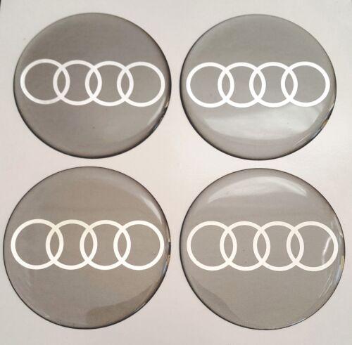 Audi 4 unid x 75mm pegatinas para tapacubos de silicona llantas emblema tapacubos logotipo
