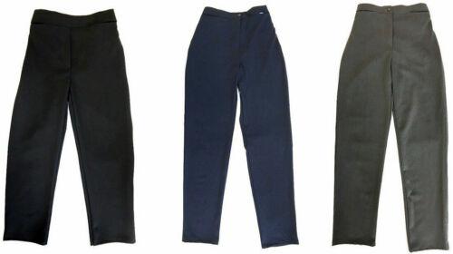 Girls Sturdy Fit School Uniform Trousers Half Elasticated Plus Size Waist