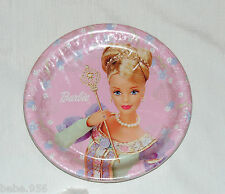 NEW  ~BARBIE DREAM TIME~  8 LUNCH  PLATES VINTAGE  PARTY SUPPLIES