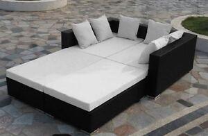 Divano salotto rattan letto design moderno arredo giardino for Arredo giardino rattan offerte
