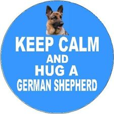 2 German Shepherd Dog / Alsatian Car Stickers (Keep Calm & Hug) By Starprint