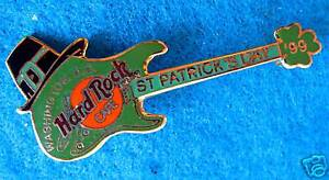 Washington-Dc-Prototipo-st-PATRICK-039-S-Fender-Strat-Guitarra-99-Hard-Rock-Cafe-Pin