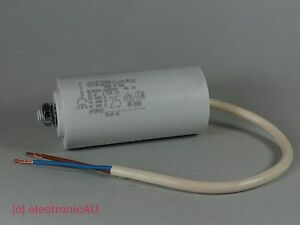 25uF-Run-Capacitor-ICAR-Double-Insulated-Leads-400-450V-dryer-pump-drill-spa