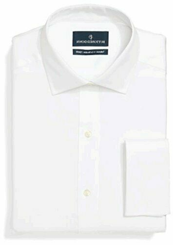 White BUTTONED DOWN Men/'s Tailored Fit French Cuff Spread-Collar Size 15.5