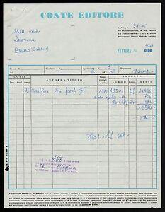 FT0028 Conte Editore - Napoli - Invoice D' Epoca