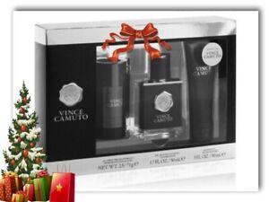 3pc Set VINCE CAMUTO EDT 1.7 oz Deodorant 2.5 oz Shower Gel 3 oz NIB (977)Men