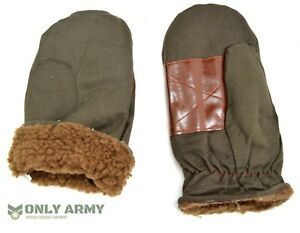 1960s-Czech-Army-Cold-Weather-Mittens-Fur-Lined-Winter-Gloves-Mits-New-Old-Stock
