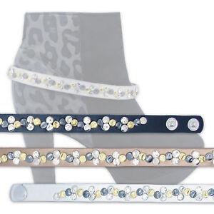 Stiefelband-Stiefelgurt-Stiefelriemen-Stiefelguertel-Strasssteine-Nieten-3-Farben