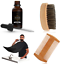 Beard-Oil-Balm-Comb-Brush-Apron-Beard-Grooming-amp-Trimming-Kit-for-Men thumbnail 13