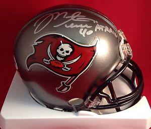 Mike Alstott signed Tampa Bay Bucs Mini Helmet PSA\DNA Cert# W68092