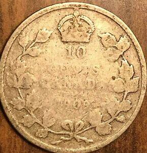 1909-CANADA-SILVER-10-CENTS