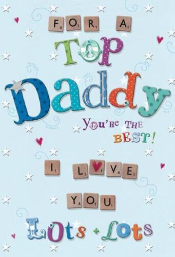 Pour un haut papa vous êtes le meilleur Scrabble Design Happy Birthday Card Lovely Verset