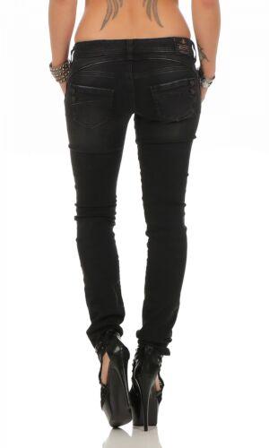 Piper Jeans Femmes Db840 Pantalon Tubes Slim Magnifique 671 Noir Pour 6dxBBAq