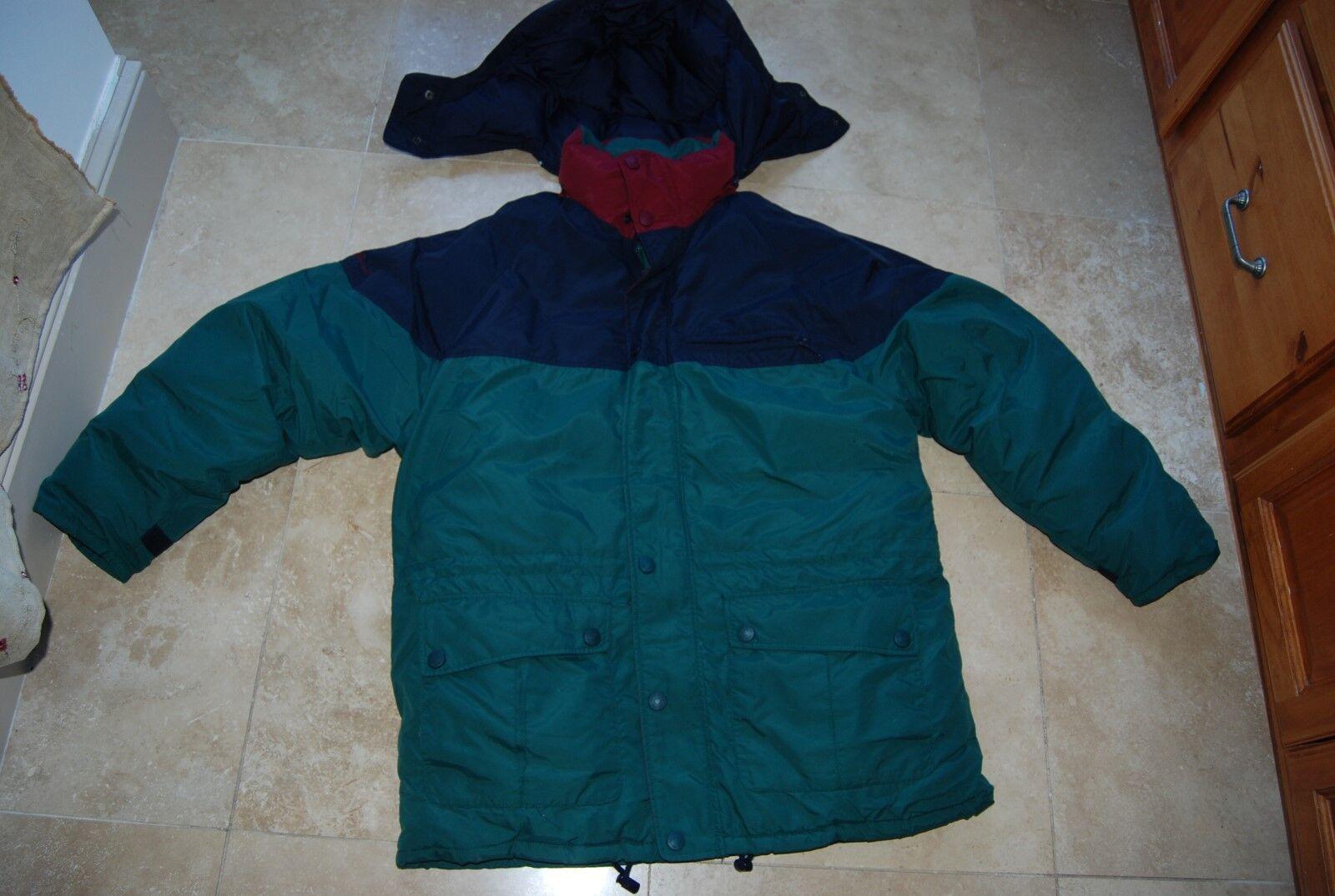 Dark Grün Navy BLue & Maroon EDDIE BAUER Down Filled Winter Coat Large