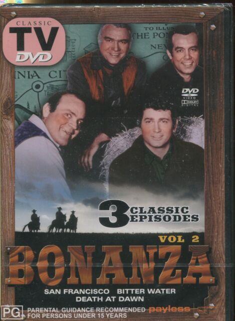 BONANZA VOL. 2 - CLASSIC TV - DVD - 3 CLASSIC EPISODES - NEW