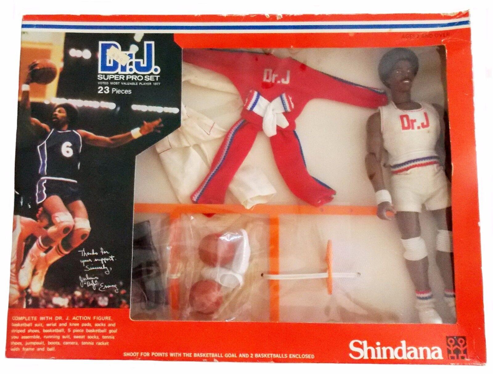 1976 JULIUS ERVING 10  shindana basketball figure MIB -- DR J SUPER PRO SET