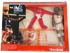 "1976 JULIUS ERVING 10"" shindana basketball figure MIB -- DR J SUPER PRO SET"