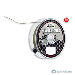 Raubfisch Vorfachschnur Wels Waller Taille Und Sehnen StäRken Realistisch 0,48€/m 20m Kevlar Leader Vorfachmaterial