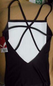 NWT-CAPEZIO-Strappy-Back-Camisole-Leotard-Black-Ladies-sizes-10977W