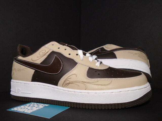 2005 Nike Air Obliger 1 MR. CARTOON LASER BROWN PRIDE LINEN BAROQUE blanc LA DS 11