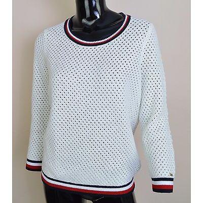 Tommy Hilfiger Damen Pullover Sweatshirt Gigi Hadid Halo SNOW White Gr. S bis L