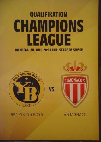Programm UEFA CL 2015//16 Young Boys Bern AS Monaco