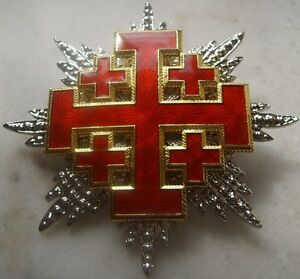Medieval Crusade Knight Sepulcher Jerusalem Malta Medal War Cross God Holy Latin