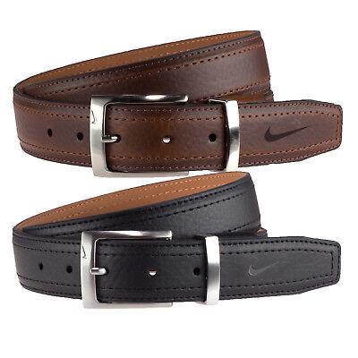 Nike Mens Standard G-Flex Pebble Grain Leather Belt