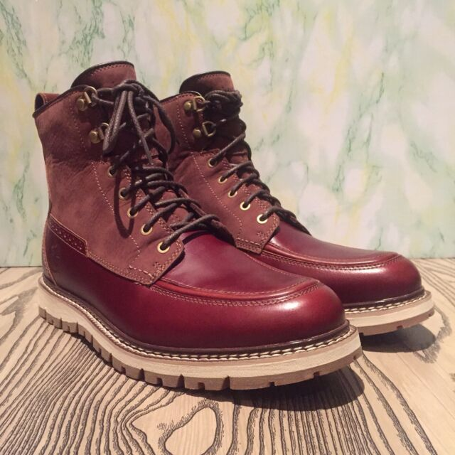 Timberland Men's Britton Hill Moc Toe Waterproof Boot A1253. Size:8