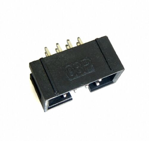 Details about  /50x DC3 8 Pin Shrouded Male Header Connector 2.54mm