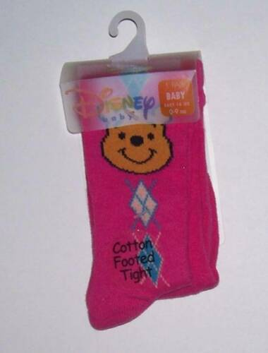 NWT Disney Winnie the Pooh cotton footed tights Pink Infant Baby 0 3 6 9 Mo