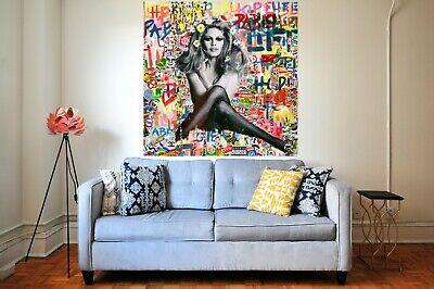Motiv Brigitte Bardot XXL 90 x 116,5 Pop Art//Bild//Alu Dibond//Street Art//Modern