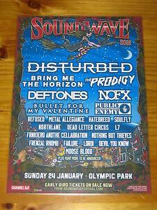 SOUNDWAVE-2016-Australia-Tour-DISTURBED-NOFX-DEFTONES-Laminated-Poster